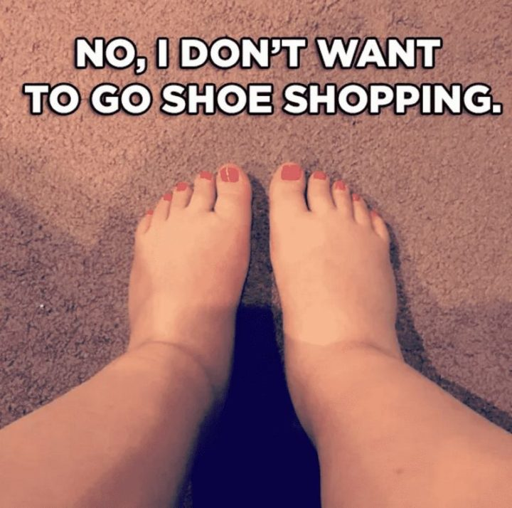 "71 Pregnancy Memes - ""No, I don't want to go shoe shopping."""