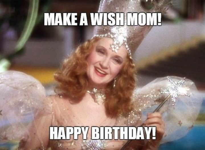 "101 Happy Birthday Mom Memes - ""Make a wish mom! Happy birthday!"""