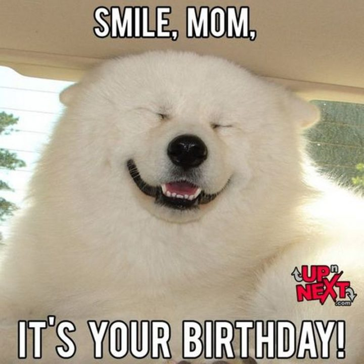 "101 Happy Birthday Mom Memes - ""Smile, mom, it's your birthday!"""