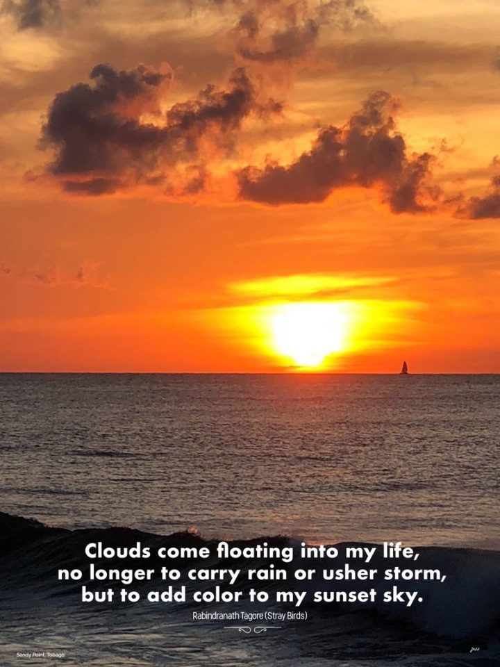 """47 """"Life is Beautiful"""" Quotes - """"Clouds come floating into my life, no longer to carry rain or usher storm, but to add color to my sunset sky."""" - Rabindranath Tagore"""