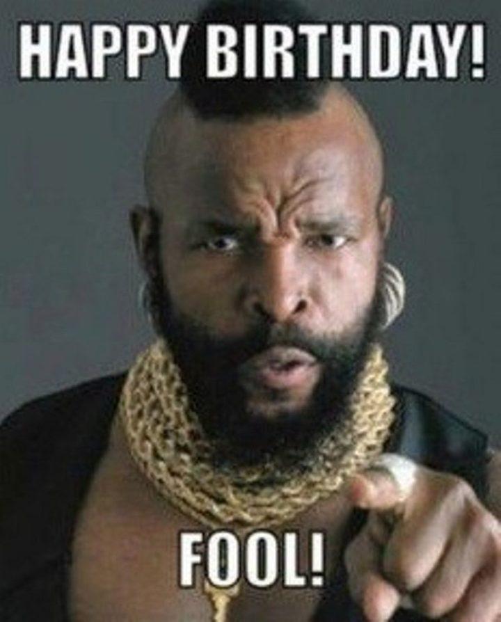 "71 Happy Birthday Brother Memes - ""Happy birthday! Food!"""