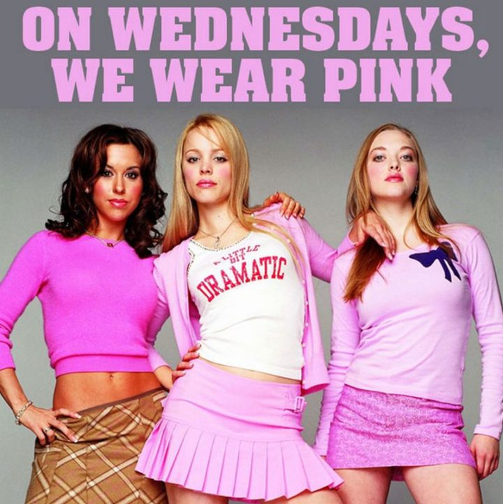 """65 Happy Wednesday Quotes - """"On Wednesdays we wear pink."""" - Mean Girls"""