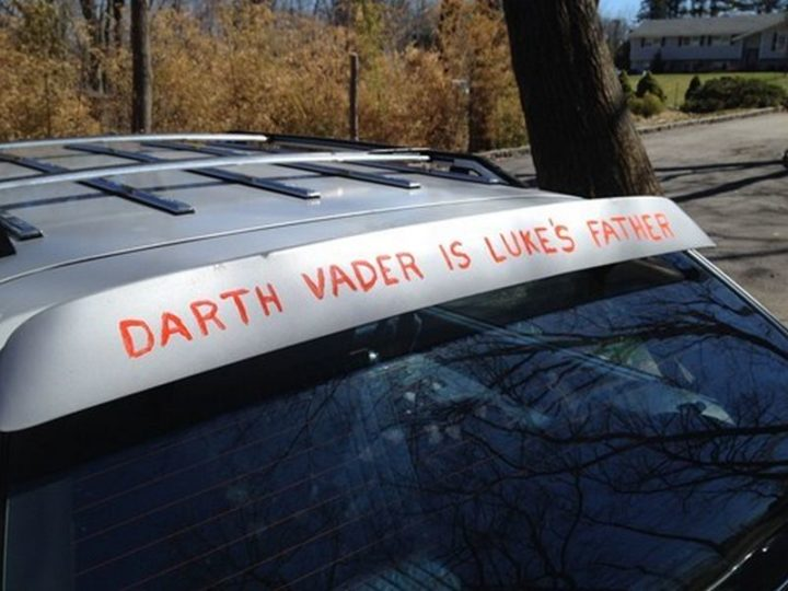 """""""Darth Vader is Luke's father."""""""