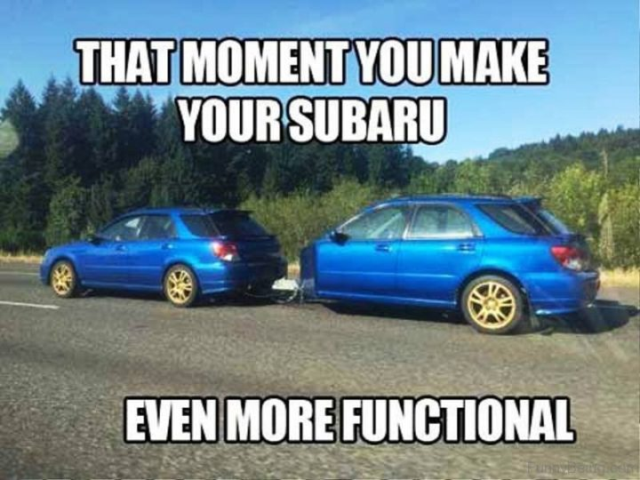 """""""That moment you make your Subaru even more functional."""""""