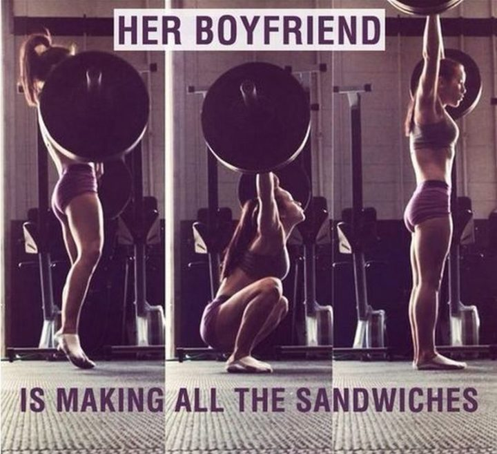 """65 Gym Memes - """"Her boyfriend is making all the sandwiches."""""""