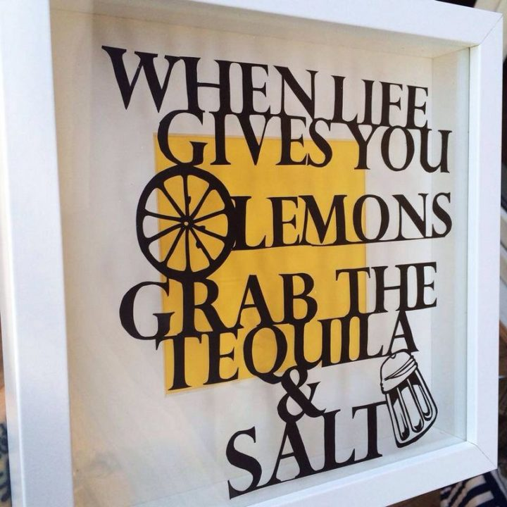 """""""When life gives you lemons grab the tequila and salt."""""""