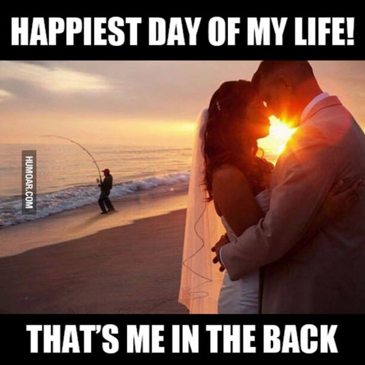 """""""Happiest day of my life! That's me in the back."""""""