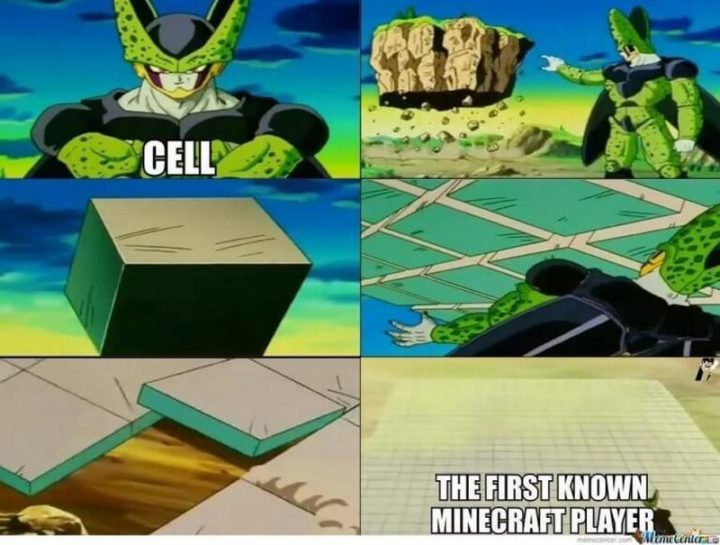 "85 Minecraft Memes - ""Cell. The first known Minecraft player."""