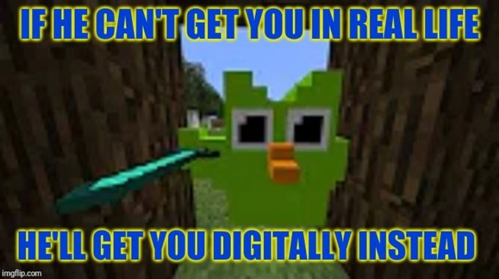 "85 Minecraft Memes - ""If he can't get you in real life, he'll get you digitally instead."""