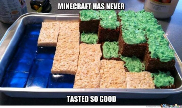 "85 Minecraft Memes - ""Minecraft has never tasted so good."""