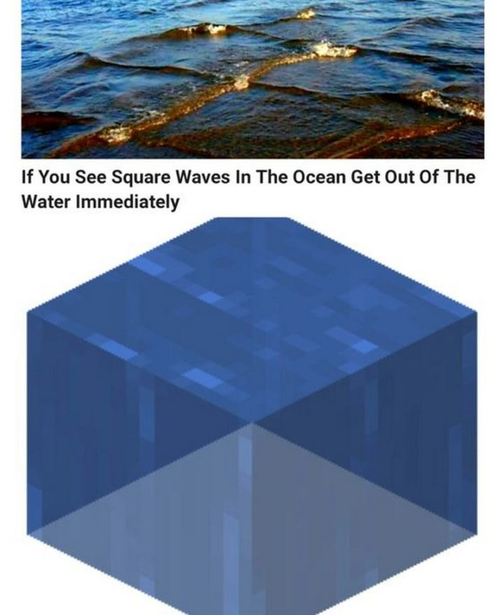 "85 Minecraft Memes - ""If you see square waves in the ocean get out of the water immediately."""