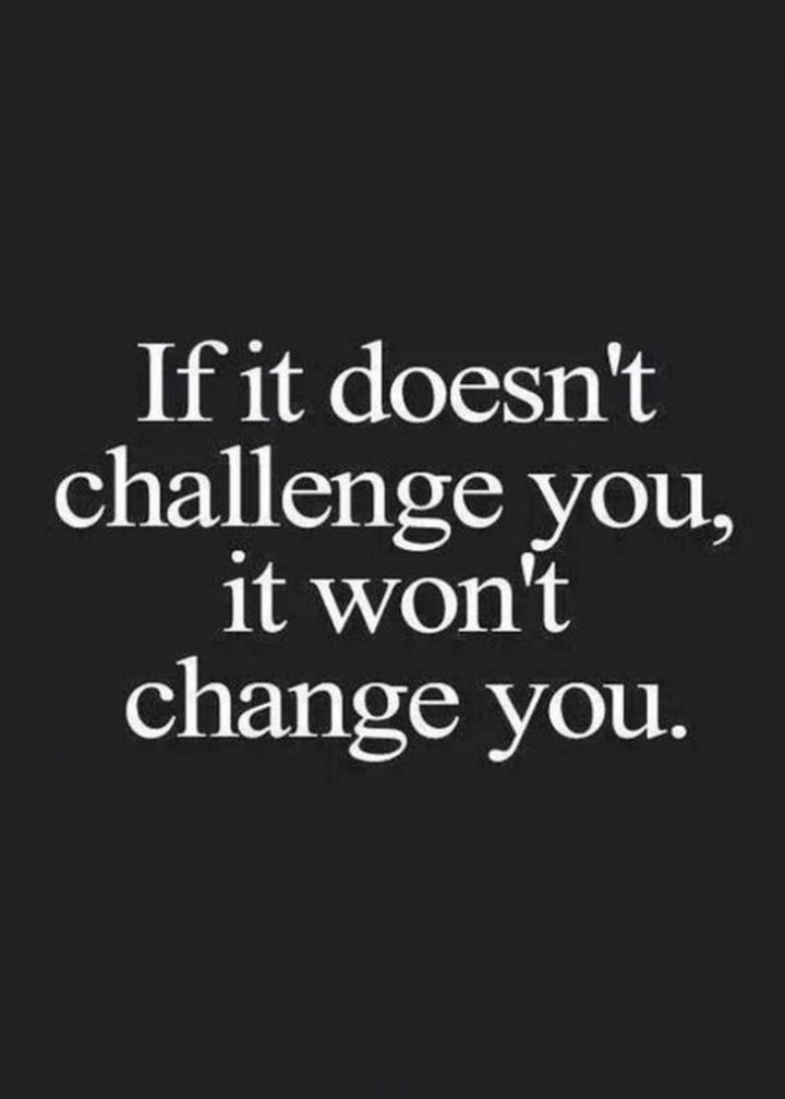 """67 Motivational Memes - """"If it doesn't challenge you, it won't change you."""""""