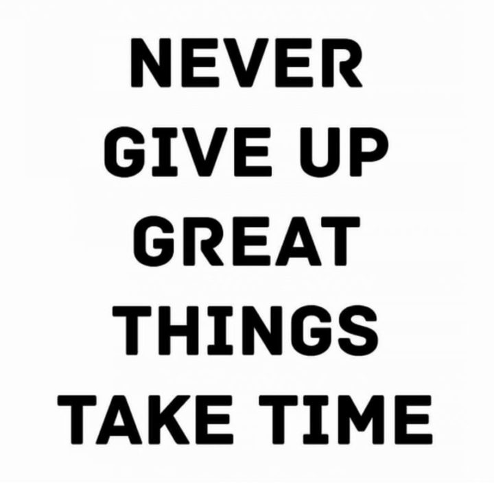 """67 Motivational Memes - """"Never give up. Great things take time."""""""