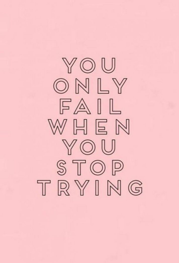 """67 Motivational Memes - """"You only fail when you stop trying."""""""