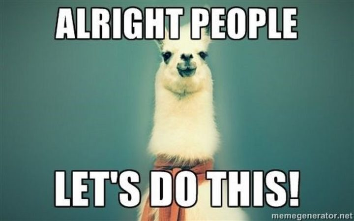 """67 Motivational Memes - """"Alright people. Let's do this!"""""""