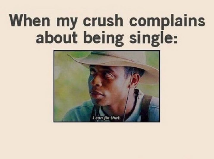 "67 Funny Single Memes - ""When my crush complains about being single: I can fix that."""