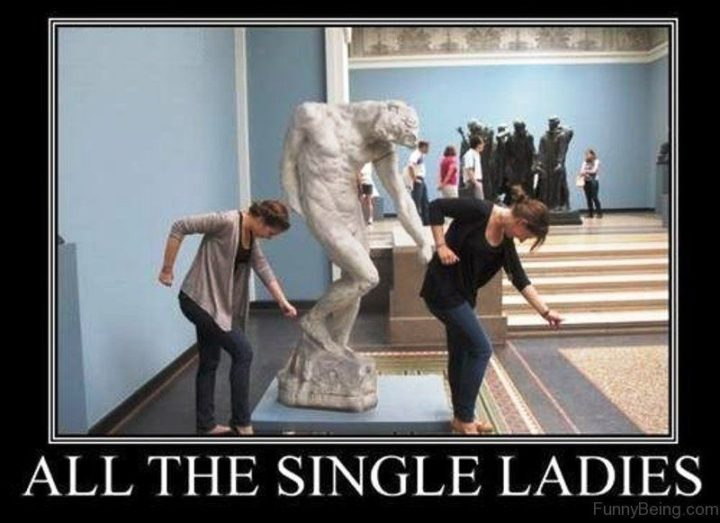 "67 Funny Single Memes - ""All the single ladies."""