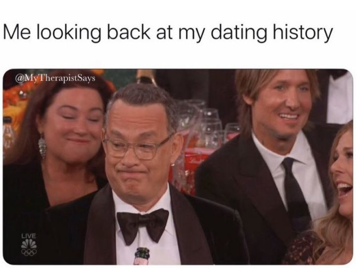 "67 Funny Single Memes - ""Me looking back at my dating history."""