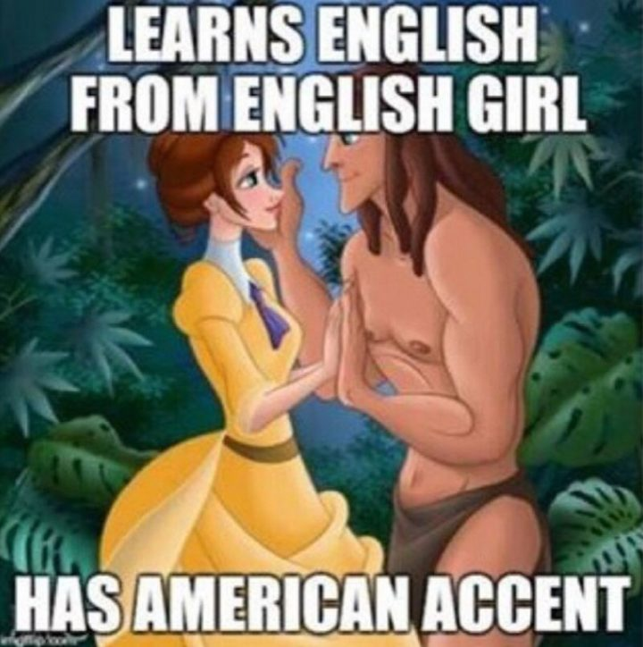 "51 Funny Disney Memes - ""Learns English from an English girl. Has American accent."""