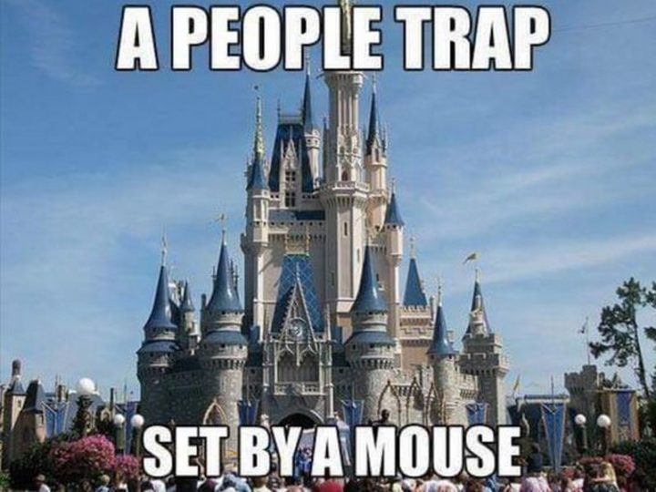 "51 Funny Disney Memes - ""A people trap set by a mouse."""