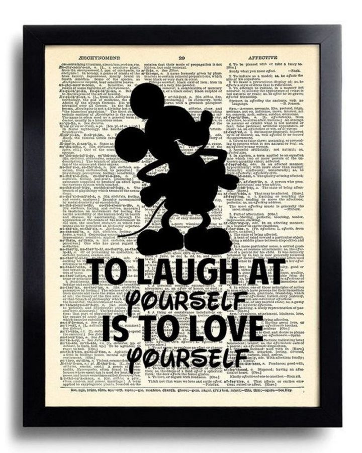 "61 Inspirational Disney Quotes - ""To laugh at yourself is to love yourself."" - Mickey Mouse"