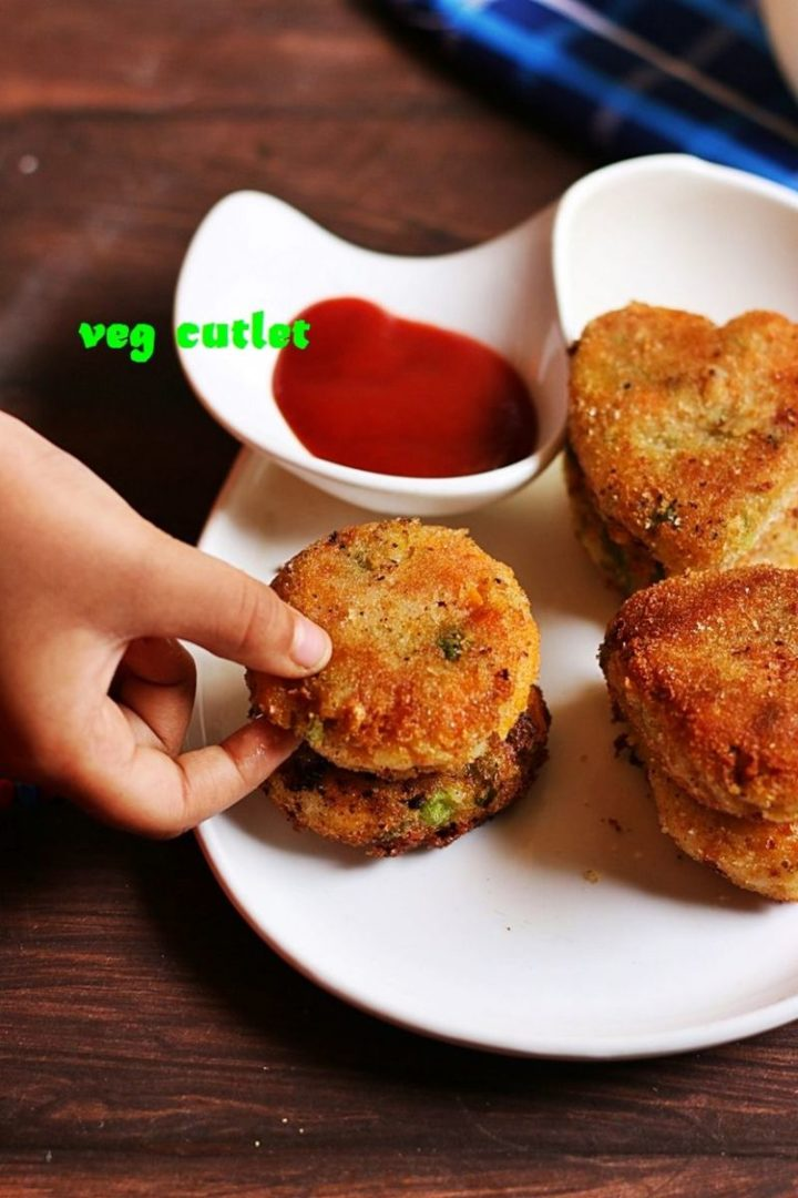 35 Indian Appetizer Recipes - Restaurant-Style Vegetable Cutlet.