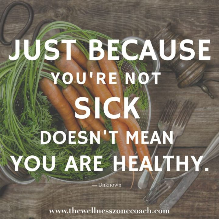 "53 Sick Quotes - ""Just because you're not sick doesn't mean you're healthy."" - Anonymous"