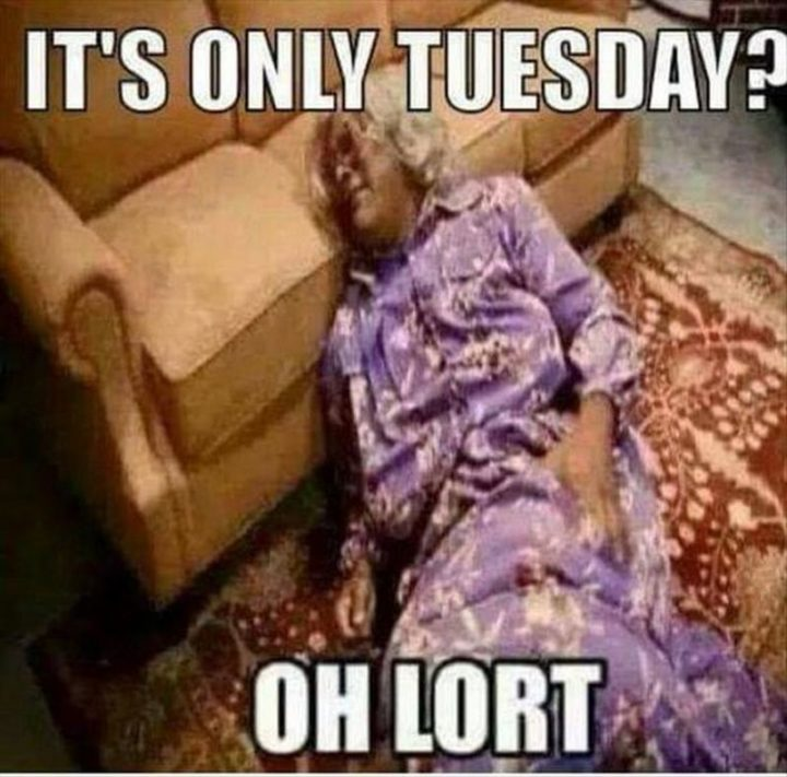 "101 Tuesday Memes - ""It's only Tuesday? Oh, Lort."""