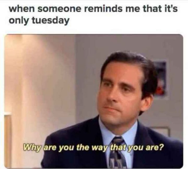 "101 Tuesday Memes - ""When someone reminds me that's it's only Tuesday: Why are you the way you are?"""