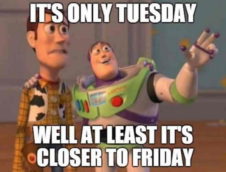 "101 Tuesday Memes - ""It's only Tuesday. Well, at least it's closer to Friday."""