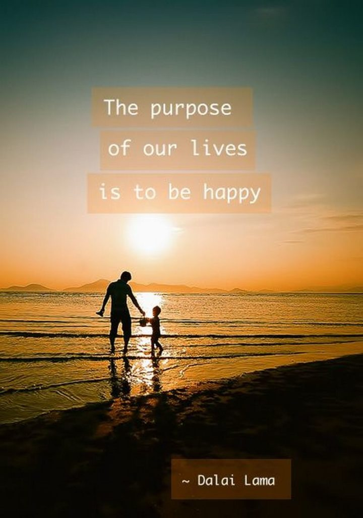 "53 Happy Quotes - ""The purpose of our lives is to be happy."" - Dalai Lama​​"