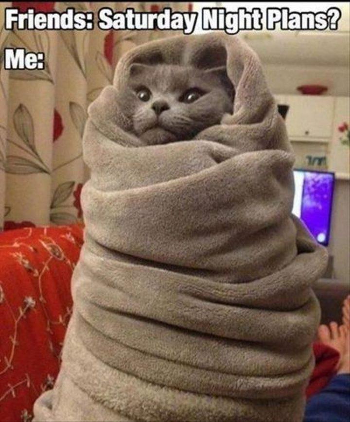 "101 Saturday Memes - ""Friends: Saturday night plans? Me:"""