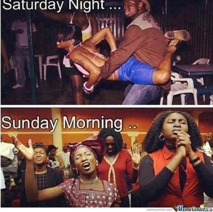 """101 Saturday Memes - """"Saturday night...Sunday morning..."""""""