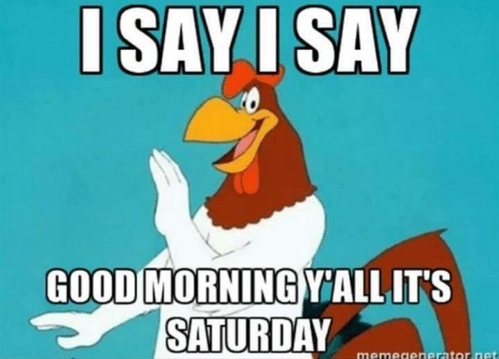 """101 Saturday Memes - """"I say, I say, good morning y'all it's Saturday."""""""