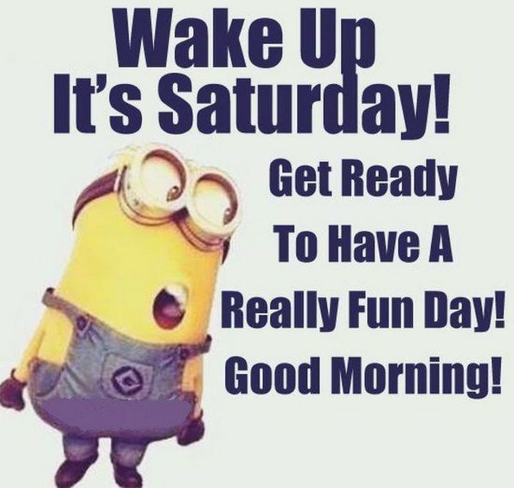 """101 Saturday Memes - """"Wake up it's Saturday! Get ready to have a really fun day! Good morning!"""""""