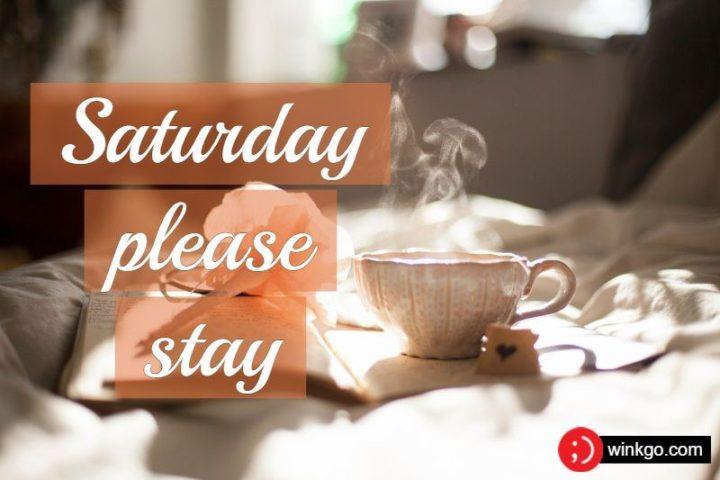 "59 Saturday Quotes - ""Saturday, please stay."" - Unknown"