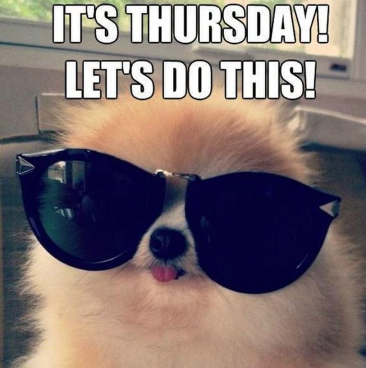 """""""It's Thursday! Let's do this."""""""