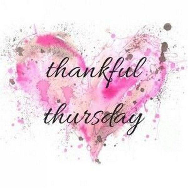 """Thankful Thursday."""