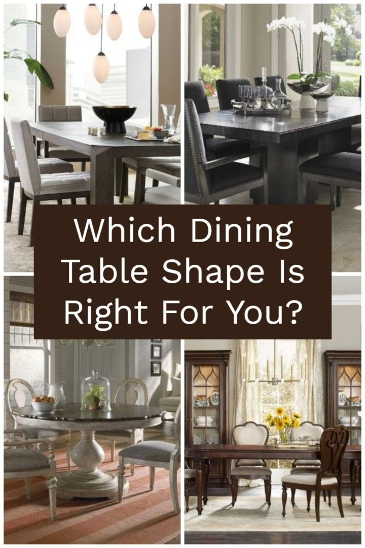 Which Dining Table Shape Is Right For You? Rectangle, square, oval, or round? Choose the perfect table shape for your dining room!