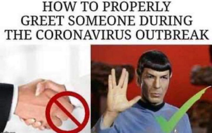 """53 Coronavirus Memes - """"How to properly greet someone during the coronavirus outbreak."""""""