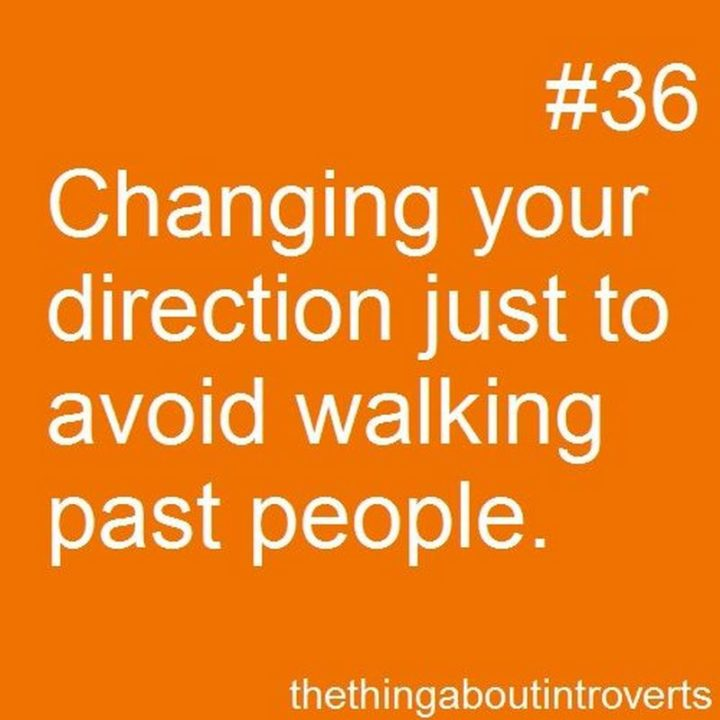 """75 Introvert Memes - """"Changing your direction just to avoid walking past people."""""""