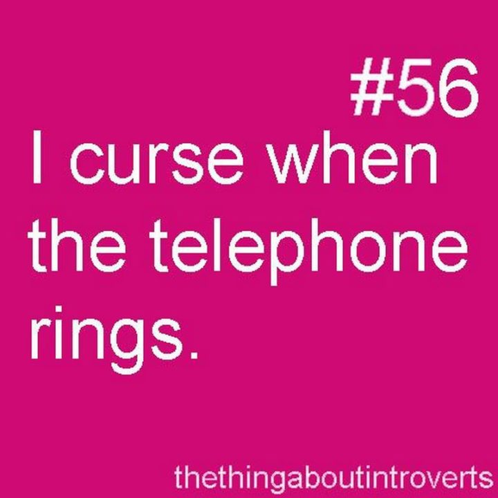 """75 Introvert Memes - """"I curse when the telephone rings."""""""