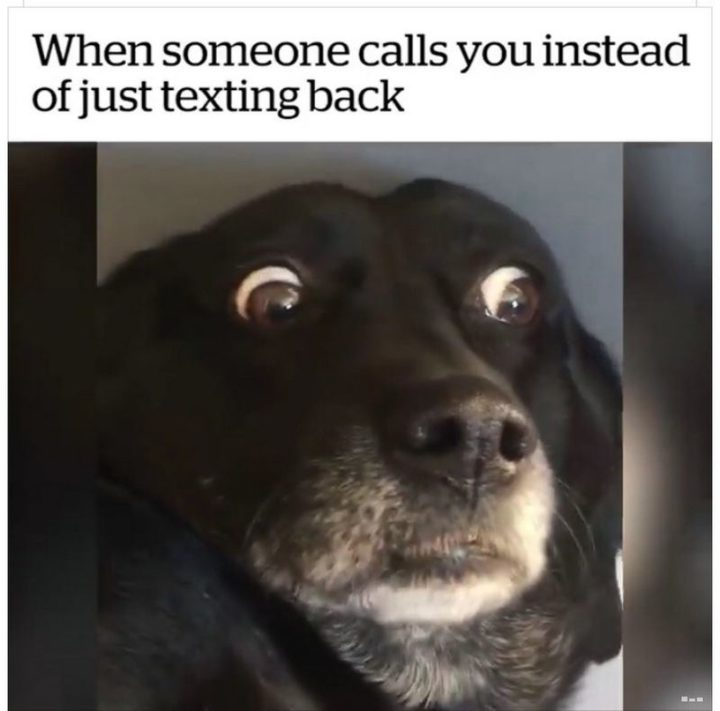 """75 Introvert Memes - """"When someone calls you instead of just texting back."""""""
