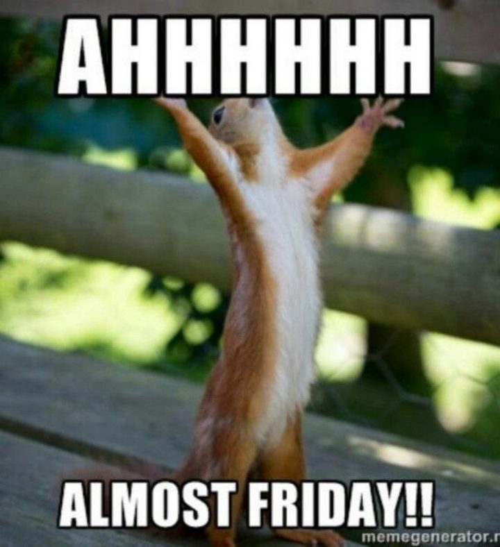 """55 """"Almost Friday"""" Memes - """"Ahhhhhh, almost Friday!!"""""""