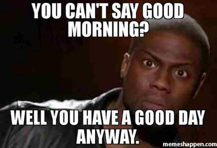 "101 ""Have a Great Day"" Memes - ""You can't say good morning? Well, you have a good day anyway."""