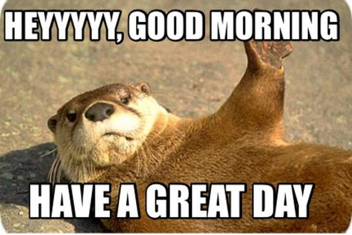 "101 ""Have a Great Day"" Memes - ""Heyyyyy, good morning. Have a great day."""