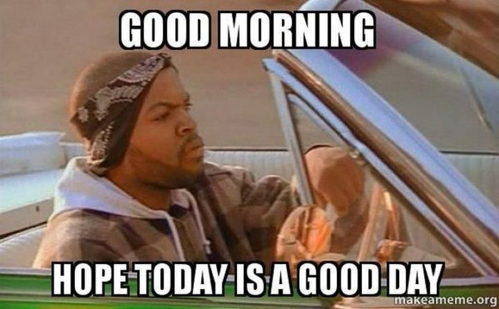 "101 ""Have a Great Day"" Memes - ""Good morning. Hope today is a good day."""