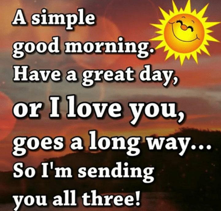 "101 ""Have a Great Day"" Memes - ""A simple good morning, have a great day, or I love you, goes a long way...So I'm sending you all three!"""