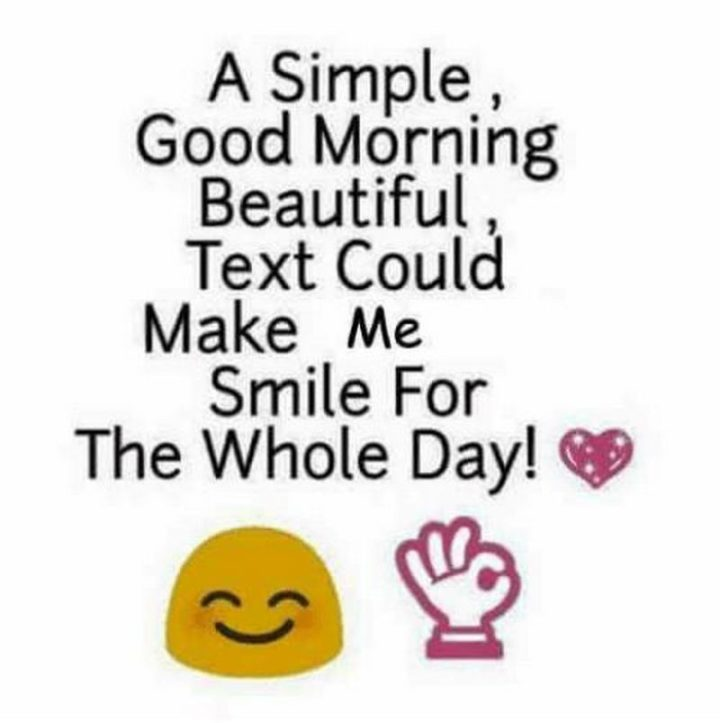 "101 ""Have a Great Day"" Memes - ""A simple, good morning beautiful, text message could make me smile for the whole day!"""