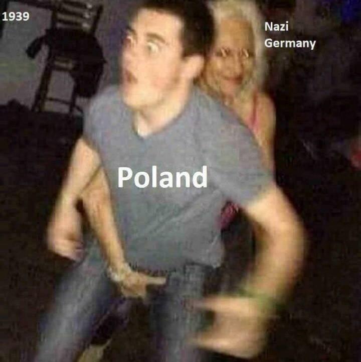 "55 Funny History Memes - ""Nazi Germany invading Poland in 1939."""